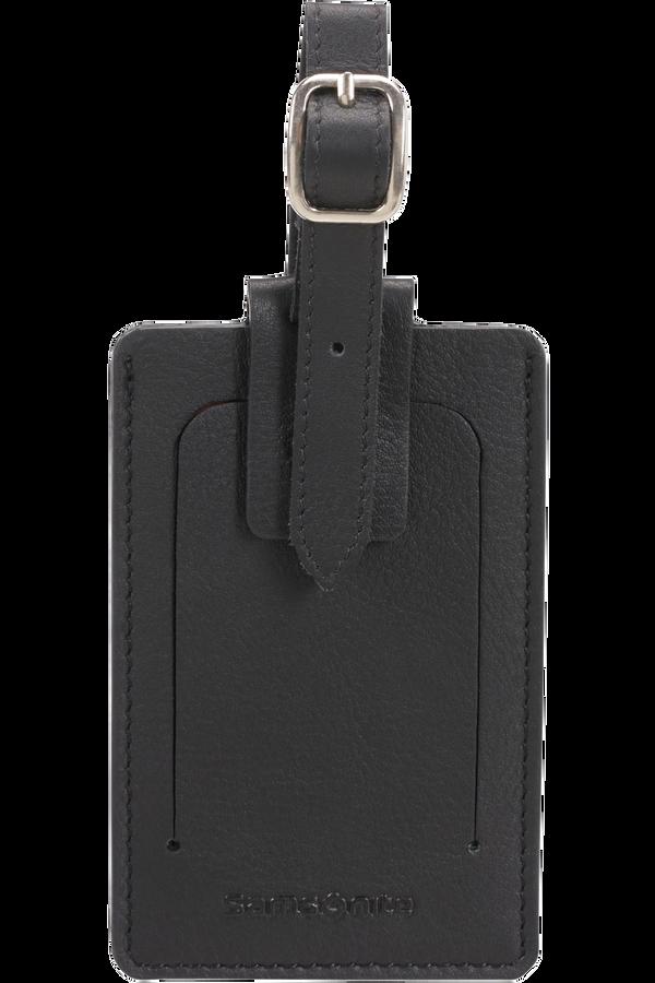 Samsonite Global Ta ID Leather Luggage Tag Negro