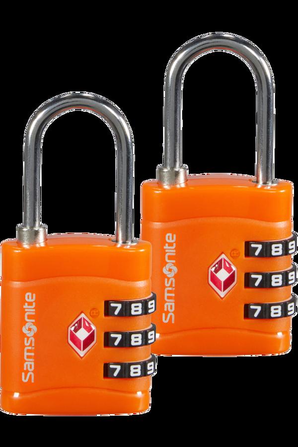 Samsonite Global Ta Combilock 3 dial TSA x2 Naranja