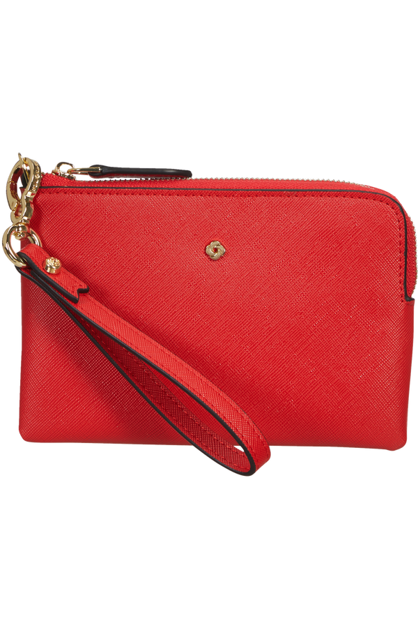 Samsonite Wavy Slg Flat Pouch 3CC  Classic Red