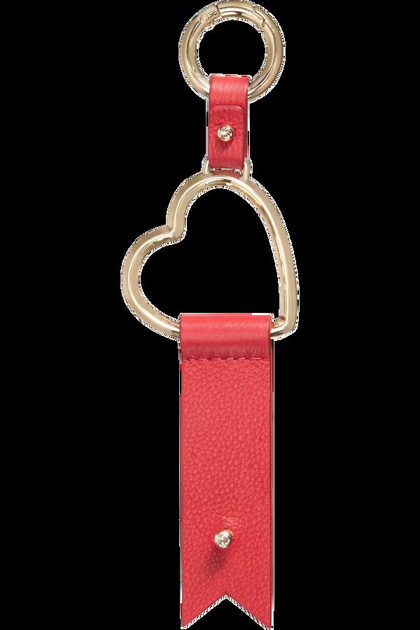 Samsonite Lady Charmy Heart Key Ring  Rojo