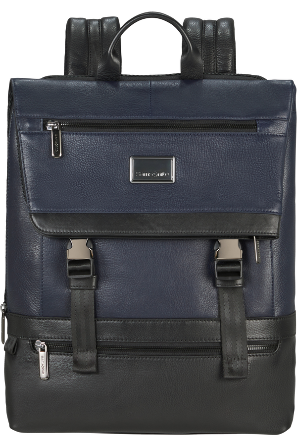 Samsonite Waymore Lth Laptop Backpack Flap Slim  15.6inch Azul