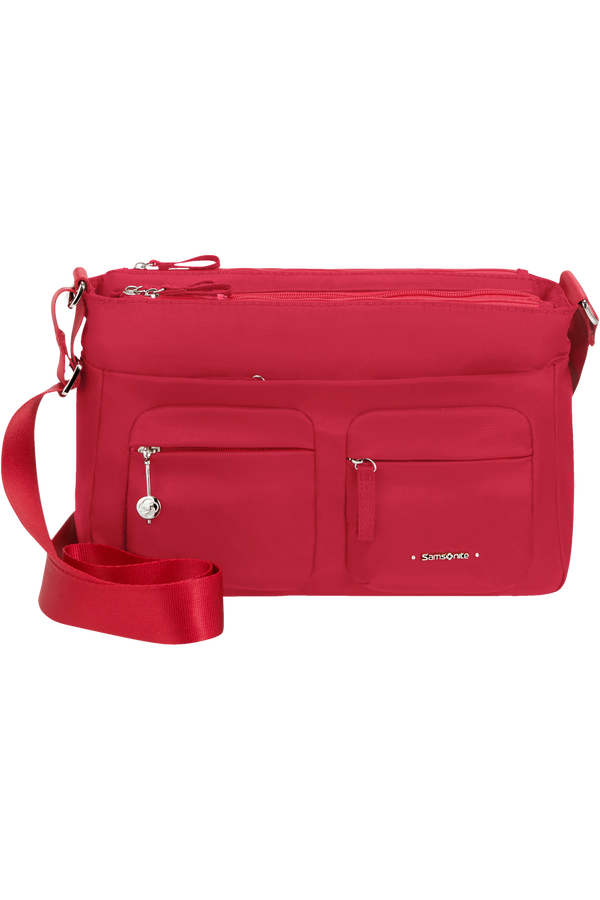 Samsonite Move 3.0 Horizontal Shoulder Bag + Flap  Cherry Red