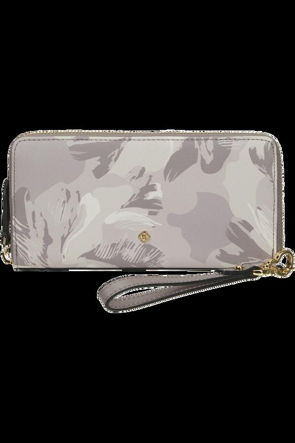 Samsonite Wavy Slg 419 - L Zip Around PR L  Lilac Grey/Camo