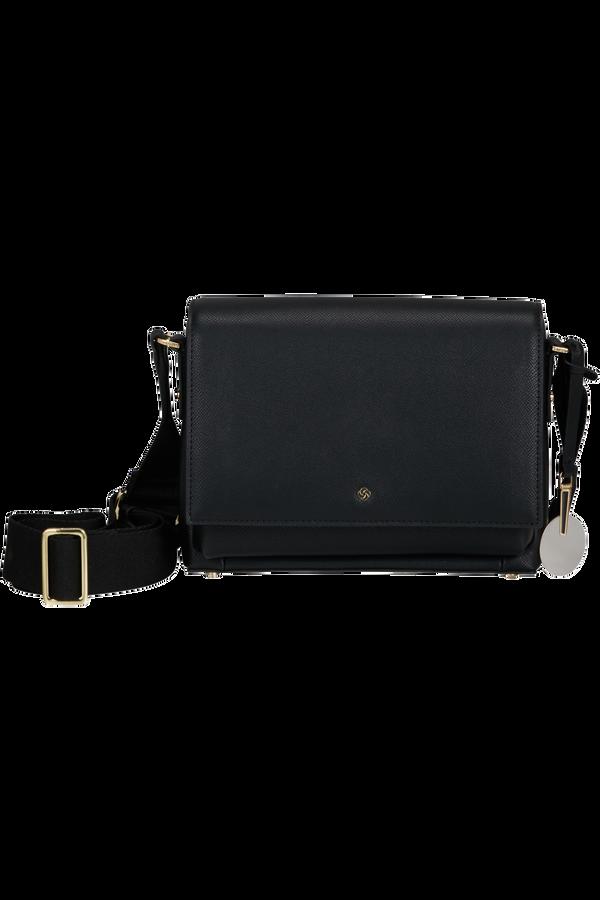 Samsonite Roundtheclock Shoulder Bag + Flap  Negro