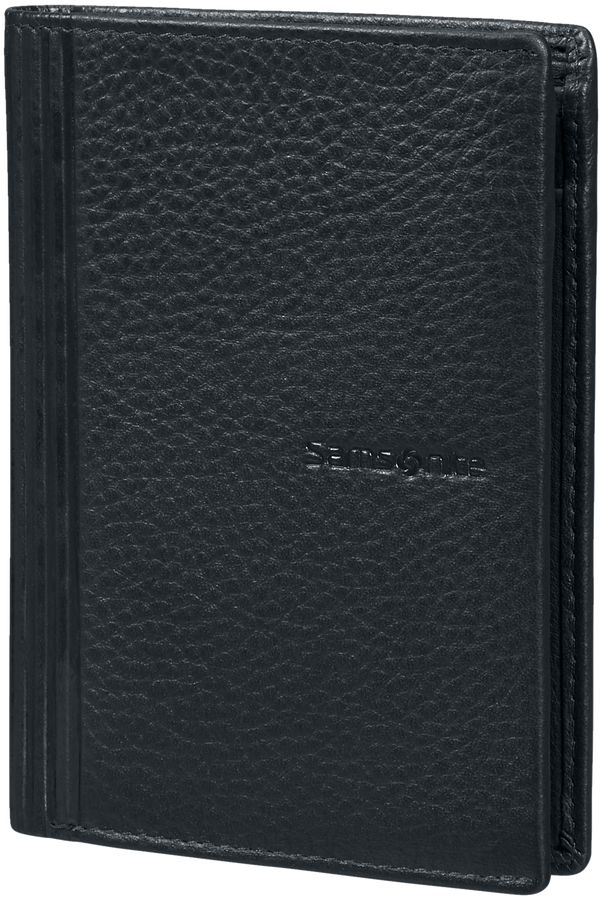Samsonite Double Leather Slg 137 - W 6CC+HFL+2W+2C  Negro