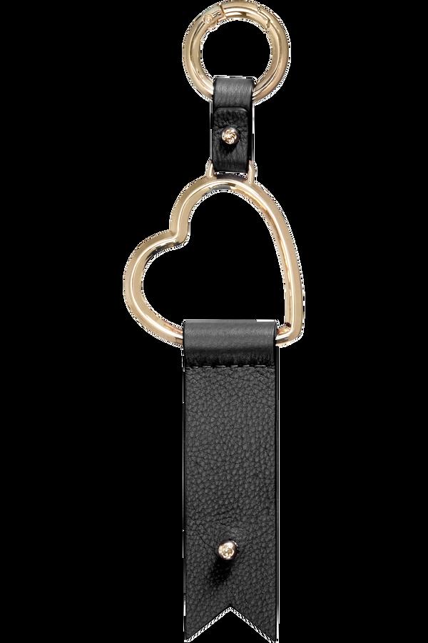 Samsonite Lady Charmy Heart Key Ring  Negro