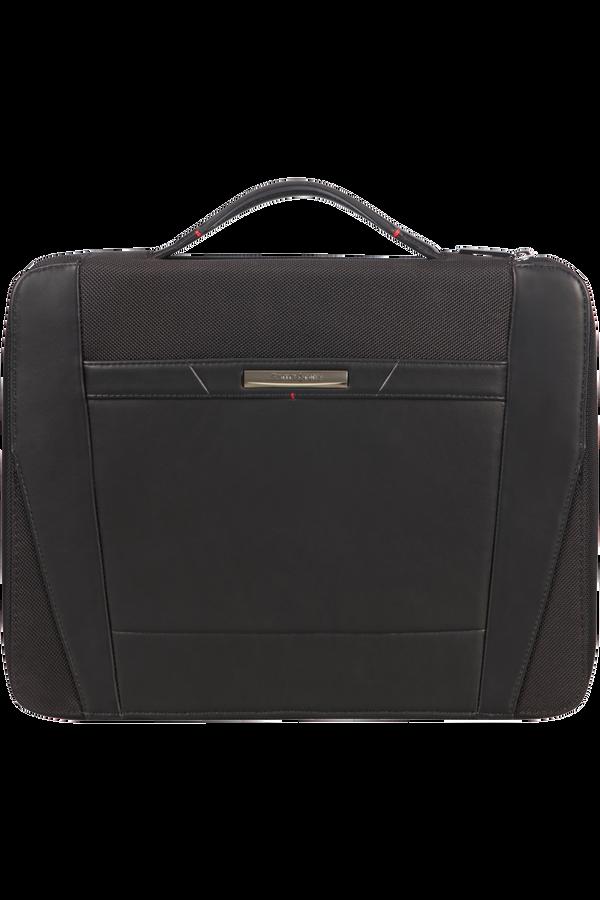 Samsonite Stationery Pro-Dlx 5 Zip Folder A4 Top H+Det B  Negro