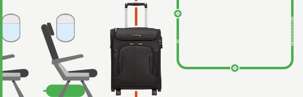 Cabin Luggage to slide under your seat
