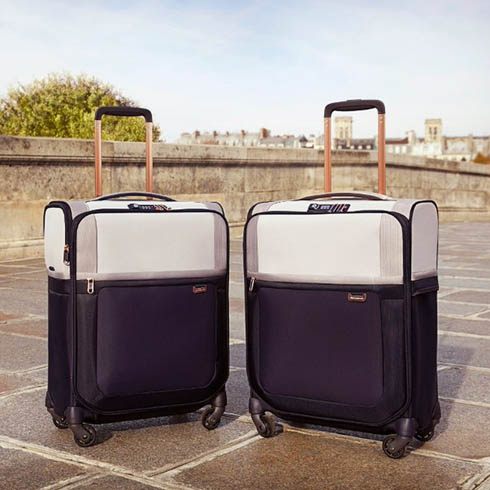 Light it up. Introducing our new Samsonite pearl/blue Uplite.