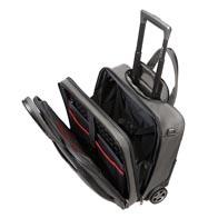 Compartimentos acolchados para portátil y tableta, con correa elástica de fijación con Velcro.