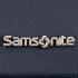 Logo Samsonite metálico.
